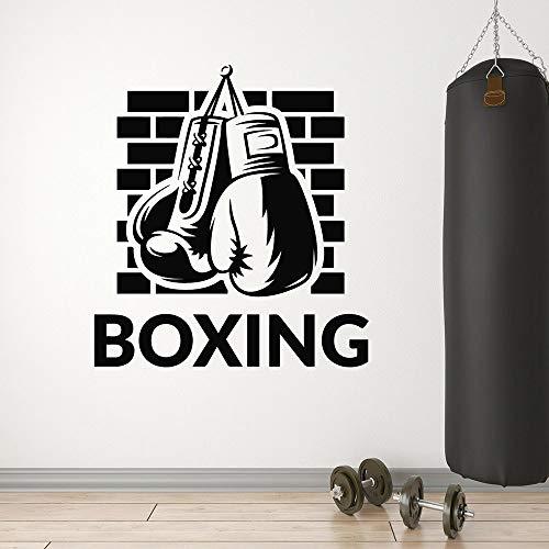 WERWN Kreative Boxlogo Vinyl Wand Boxhandschuhe Sport Martial Arts Boxwand