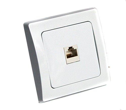UP inbouwdoos telefoon internet netwerk RJ45 f.ISDN Cat5 wit DELPHI