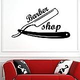 Mann Rasiermesser Barber Shop Aufkleber Name Hacken Brot Aufkleber Haarschnitt Rasierer Poster Vinyl...