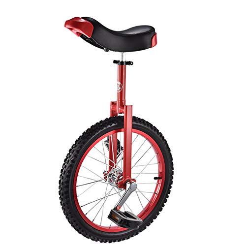 """MXSXN Einrad Kinder 16\"""" /18\"""" Einrad für Kinder, Einstellbares rotes Einrad, Klein Einrad für 6-16 Jahre Alte Kinder/Jungen, Einrad mit Alufelge,18in"""