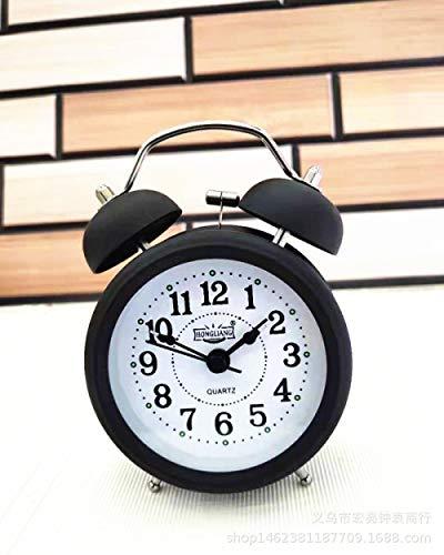 hlyhly digitale wekker Digitale klok 3-inch metalen digitale kwarts klok mode bel eenvoudige elektronische wekker