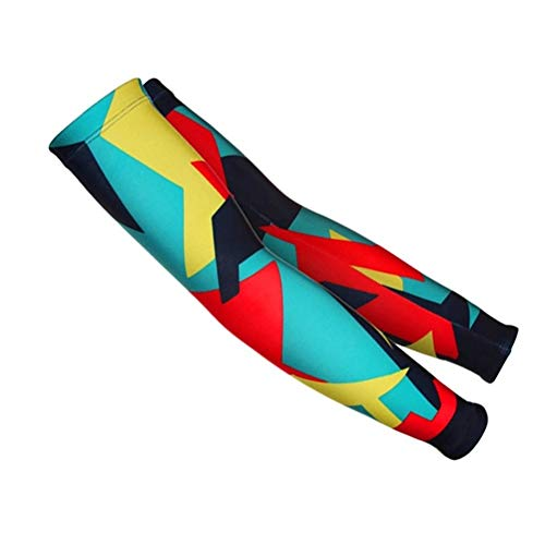 WeiLiAA Sports New Men Bright Color Cycling Running Bicycle UV Sun Protection Cuff Cover Protective Bike Sport Arm Warmers Sleeves Cover Tattoos Protect (Color : Style Photo, Size : 4XL)