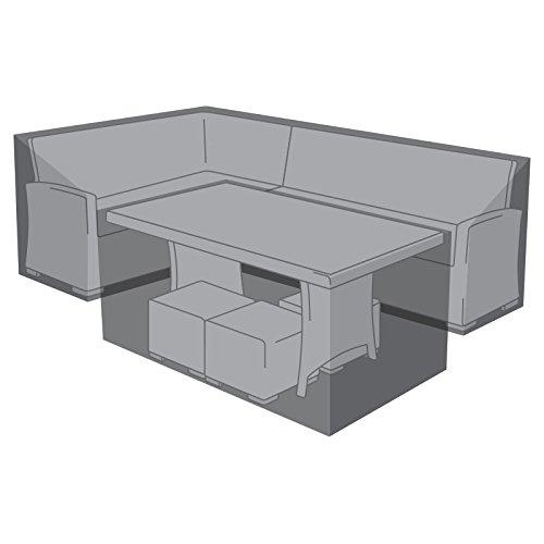 Nova Outdoor Living Garden Table Chairs Patio Furniture PVC Protector Weatherproof Cover For Left Hand Corner Sofa & Table Dining Set, Black, Sofa 84cm D: 193cm W: 252cm H: 68cm D: 91cm W: 151cm