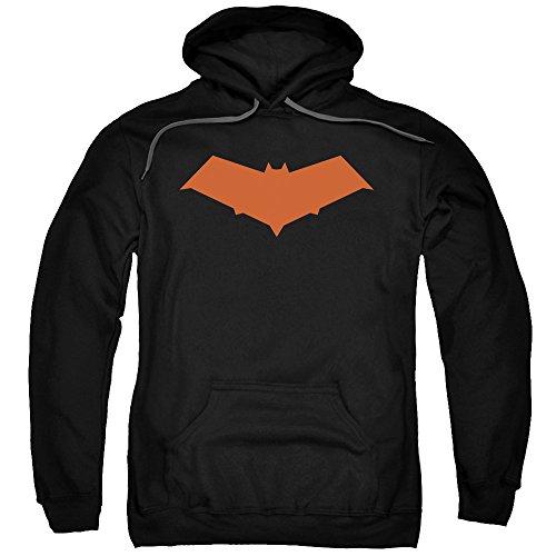 Sudadera con capucha roja de Batman con licencia oficial para adultos
