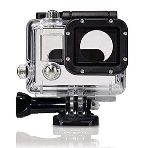 GzxLaY Estuche Impermeable a estrenar 45M Caja Protectora de Deportes de Buceo Carcasa Impermeable Montaje de la Carcasa para GoPro Hero 3/3 + / 4 Accesorios de cámara de acción (Color: Blanco).