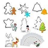 Ausstechformen Weihnachten Set, Ausstechformen, 7 Stück Keksausstecher Weihnachten, Halloween...
