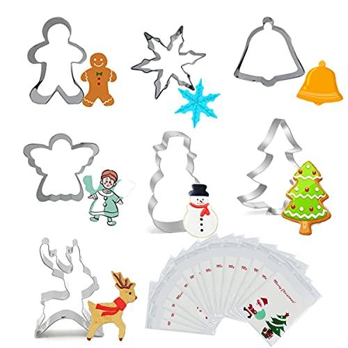 Ausstechformen Weihnachten Set, Ausstechformen, 7 Stück Keksausstecher Weihnachten, Halloween Ausstechfomen Set, Ostern Edelstahl Ausstechformen, perfekt für Keks, Backen Fondant Plätzchen, DIY