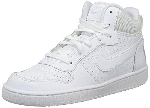 Nike Court Borough Mid (GS), Zapatillas de Baloncesto para Niños, Blanco (White/White-White 100), 38.5 EU