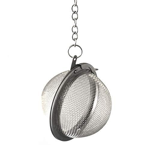 sellaviva Filterball Teesieb Gewürzsieb Teefilter - Edelstahl 5cm - für Kanne, Tasse & Topf
