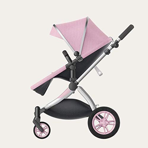 Review Of TZZ Baby Stroller Folding Portable Reclining High Landscape Pushchair Buggy with 5-Point H...