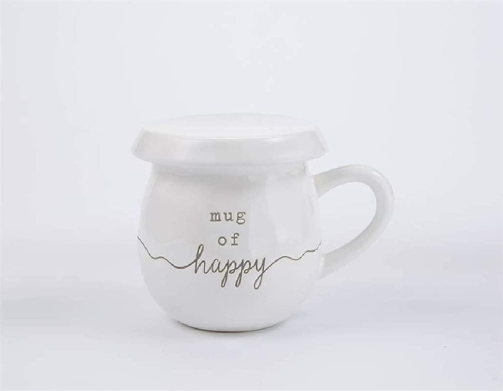 Mud Pie Mug Of Happy Tea Mugs