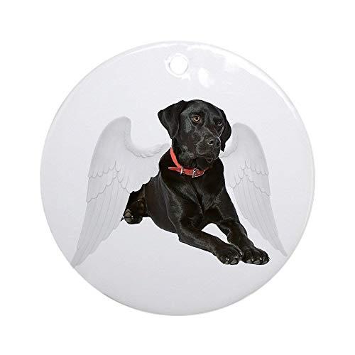 QgjayjqQ Black Lab Angel Ornament (Round) Personalized ceramic Holiday Christmas Tree Ornaments Ideas 2019