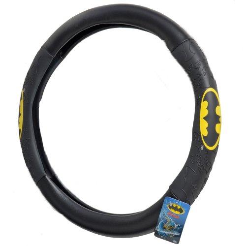 BDK WBSW-1301 Batman Steering Wheel Cover for Car & SUV - Black, Original Design (1 Piece)
