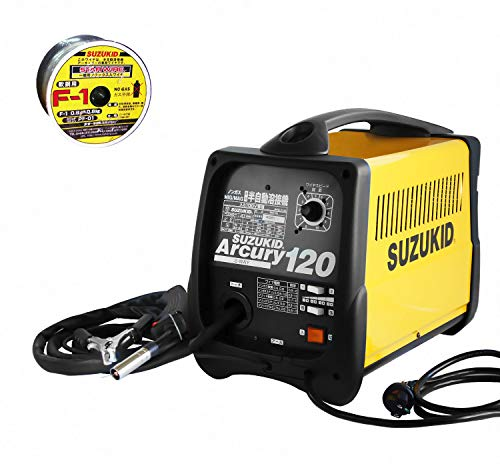 スズキッド100V 半自動溶接機 アーキュリー120 SAY-120 《専用ワイヤ1本+試運転サービス》