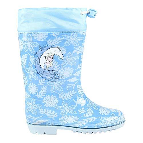 CERDÁ LIFE'S LITTLE MOMENTS 2300004450_T032-C37, Botas de Agua Frozen 2 Niña-Licencia Oficial Disney Studios, Azul, 32 EU