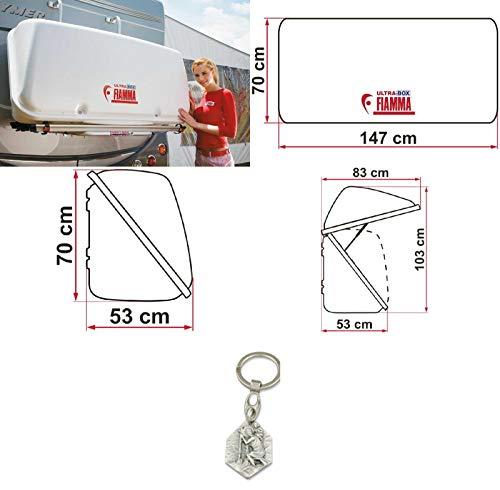 Zisa-Kombi Gepäckbox für Fahrradträger - Ultra Box 500 (93298844019) mit Anhänger Hlg. Christophorus