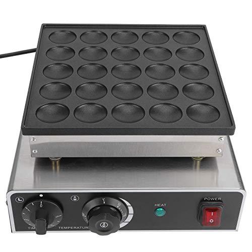Máquina de Desayuno Calentador rápido Antiadherente 25 Agujeros 950 W máquina para Hacer panqueques Aparato de Cocina para Hacer Magdalenas (Enchufe británico 220 V)