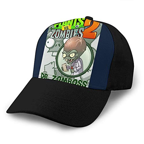 HONGYANW Baseball Cap Plants Vs Zombies Dr Zomboss Dad Hat Verstellbar Atmungsaktiv für Herren Damen Snapback Trucker Cap Schwarz