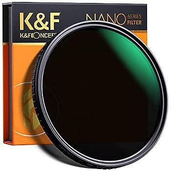 K&F Concept 72mm Fader ND Filter Neutral Density Variable Filter ND2 to ND32 for Camera Lens NO X Spot,Nanotec,Ultra-Slim,Weather-Sealed