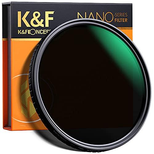 K&F Concept Filtro Variable ND 49mm ND2-32 (5 Pasos) Serie Nano X de Vidrio óptico con Nano-Revestimiento de 28 Capas para Objetivo 49mm