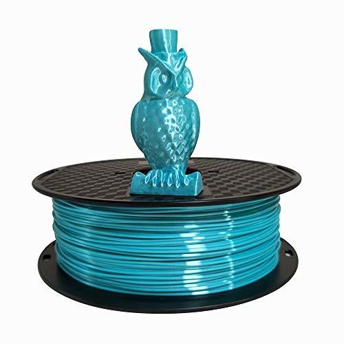 Silk Blue PLA Filament 1.75mm 3D Printer Filament 1KG 2.2 LBS Spool 3D Printing Materials CC3D Shine Silky Shiny Metallic Metal Gold Silver Copper Bronze PLA Filament