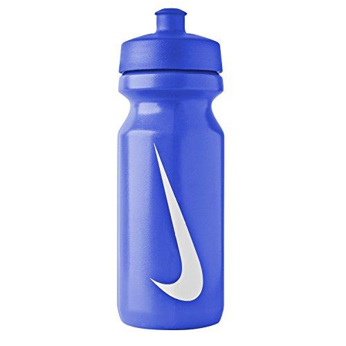 Nike - Botella agua deportiva con apertura grande (Talla Única/Juego Real/Blanco)