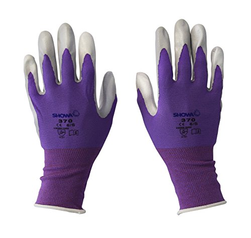 Spear & Jackson Kew Gardens Collection 370S4KEW Multi-Purpose Gardening Gloves, Purple - Small