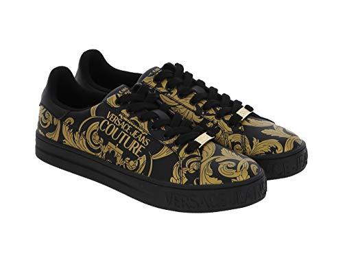 Versace Jeans Couture E0ywask9 Zapatillas Moda Hombres Negro/Oro - 41 - Zapatillas Bajas Shoes