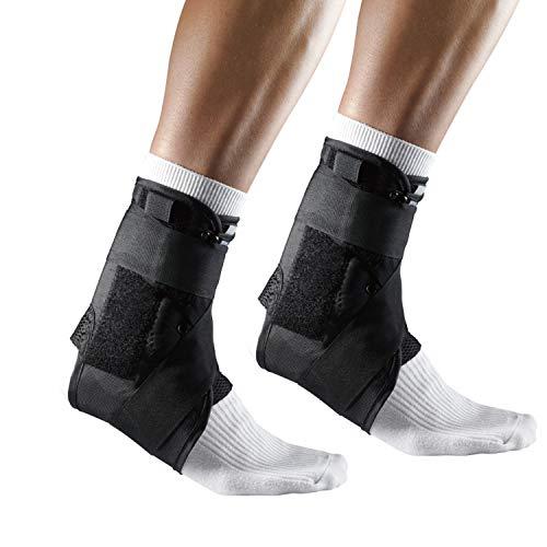 LP Support Sprunggelenkbandage mit Stabilisierungsbändern, Knöchel-Bandage, Fuß-Stütze für Sport und Alltag, Fußgelenks-Orthese, Größe:L - 1 Stück, Farbe:schwarz