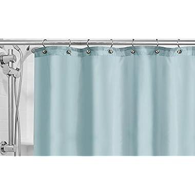 Popular Bath Fabric Shower Curtain Liner, Powder Blue