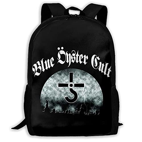 XCNGG Mochila escolar unisex duradera antirrobo del bolso del ordenador portátil de la universidad de la alta capacidad del culto de Blue Oyster