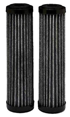 EcoPure EPW2F Premium Fact Universal Whole Home Filter (2 Pack), Dark Gray/Black