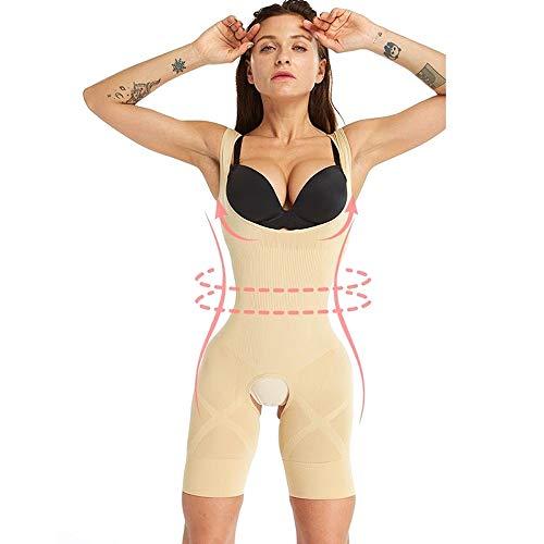 Protective Gear Taille Trainer Naadloze Shapewear Firm Full Body Shaper Vrouwen Corrigerende Ondergoed Afslanken Ondergoed Modeling Strap Buik Shaper JFCUICAN (Color : Beige, Size : S)