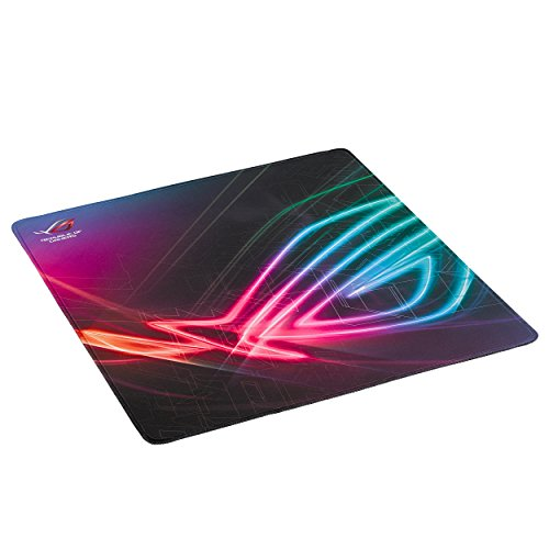 ASUS ROG Strix Edge Gaming Mouse Pad - Smooth Cloth Surface Optimized for Accurate Tracking | Anti-Fray Stitching | Non-Slip Rubber Base | Flexible Placement Options | Light & Portable