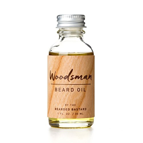 Woodsman Beard Oil | Cedar Scented Leave In Beard Conditioner Keeps Facial Hair Soft and Moisturizes Skin | Jojoba. Argan and Sweet Almond Essential Oils 1 Ounce