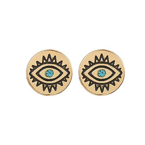 Vintage turco male occhio stud orecchini per le donne blu cristallo antico oro d'oro color argento orecchini indiani gioielli etnici
