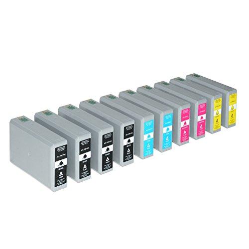 10 Tintenpatronen XXL kompatibel für Epson Workforce Pro WF-5110 5190 DW 5620 5690 DWF C13 T7891 T7892 T7893 T7894 4010