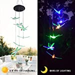 KUAHAIHINTERAL Solar Power Wind Chime Light Spiral Spinner Decorative Mobile Waterproof Outdoor Romantic Wind Bell Light… 6