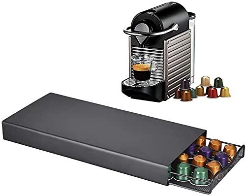 AOUZE Szuflada do kawy, 40 sztuk Coffee Capsule Organizer, Trwała szuflada do kawy, stojak na kapsułkę