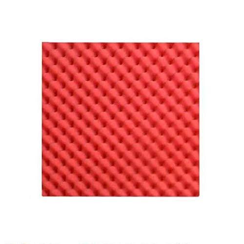 Baby kamer 40pcs Pyramid Acoustic Foam, 50 * 50 * 3,5 cm DIY Studio Strijkijzer Wall Panel Tegels Geluidsisolatie Geschikt voor deurpanelen (Color : Red)