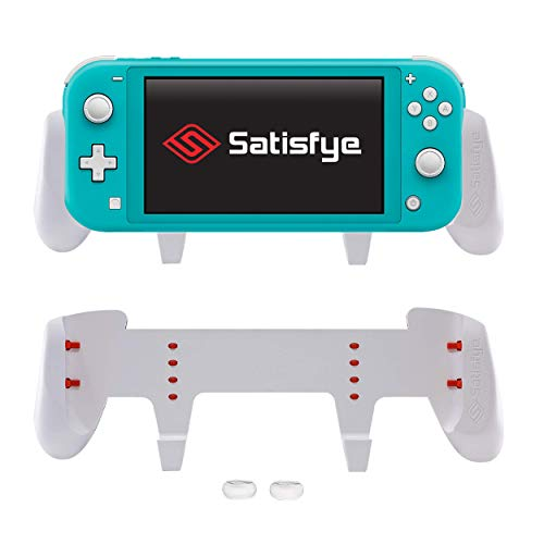 Satisfye - New Grip Lite, Accessories Compatible with Nintendo Switch Lite - Comfortable & Ergonomic Grip, Joy Con & Switch Control. #1 Switch Accessories for Gamers BONUS: 2 Thumbsticks