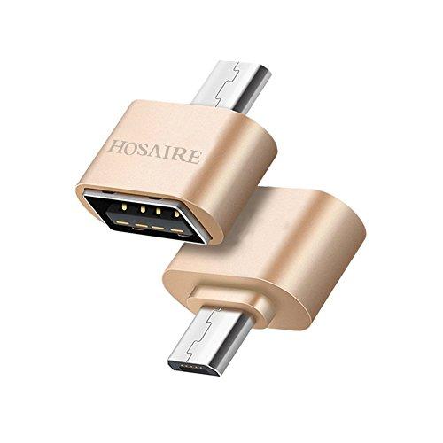 Hosaire Micro USB OTG Adaptador 2.0 Cable Negro Micro USB B Macho a una Hembra...