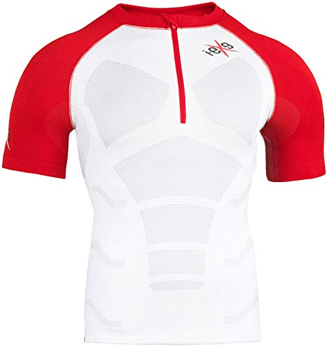 I-EXE Gold Running, T-Shirt Mixte Adulte, Adulte Mixte, GR027C15BR, Blanc/Rouge, L-XL