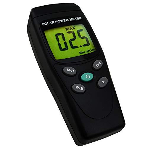 Handheld Digital Solar Leistung Meter (Pyranometer) 2000 W/m2, 634BTU / (ft2xh) Messung Solarstrahlungs Energie Insolations Prüfvorrichtung