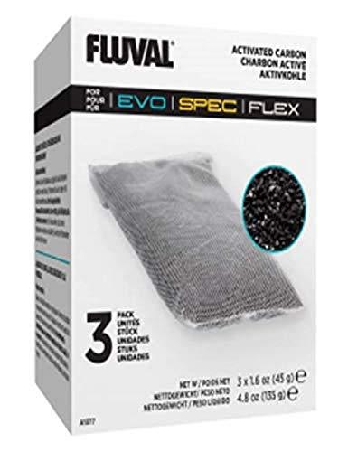 Fluval Flex Acuario Carbón 3 Uds