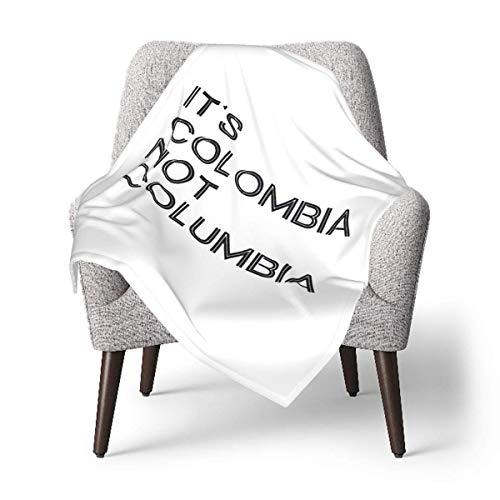 Hdadwy Su logotipo de Colombia, no Colombia, manta de felpa suave unisex para bebé, manta de recepción para bebés o recién nacidos