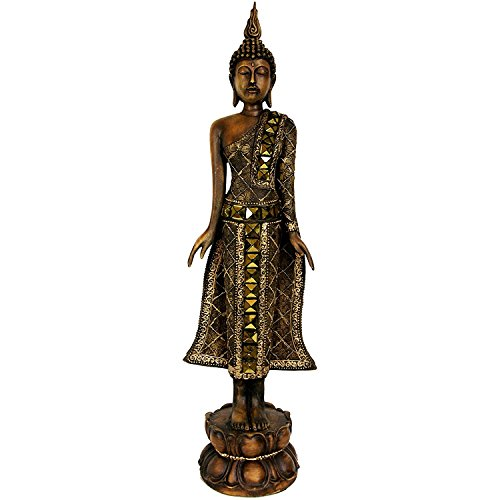 Oriental Furniture 22' Standing Thai Buddha Statue