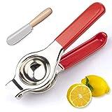 Exprimidor de limones de calidad prémium con clip de acero inoxidable 304,...