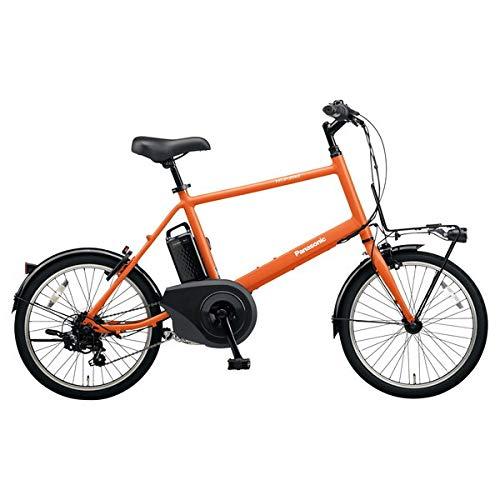 PANASONIC ベロスター・ミニ 電動アシスト自転車 (20インチ・外装7段変速) BE-ELVS072-K メタリックオレンジ