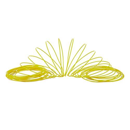 Gesh Filament für 3D-Drucker, 1,75 mm, ABS, 10 m, Gelb